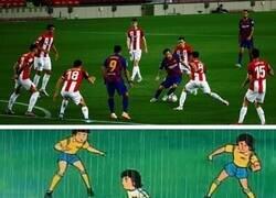 Enlace a Messi volvió a hacer de Oliver, por @goalglobal