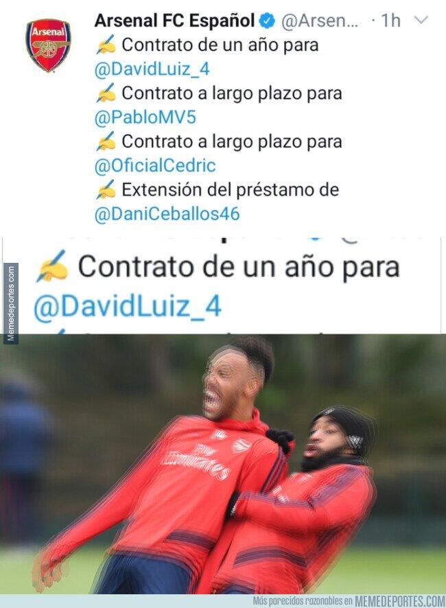 1107441 - Gunners al enterarse de la renovación de David Luiz