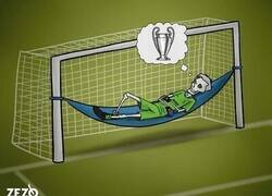 Enlace a Buffon renueva con la Juve una temporada más en busca de su sueño, por @zezocartoons