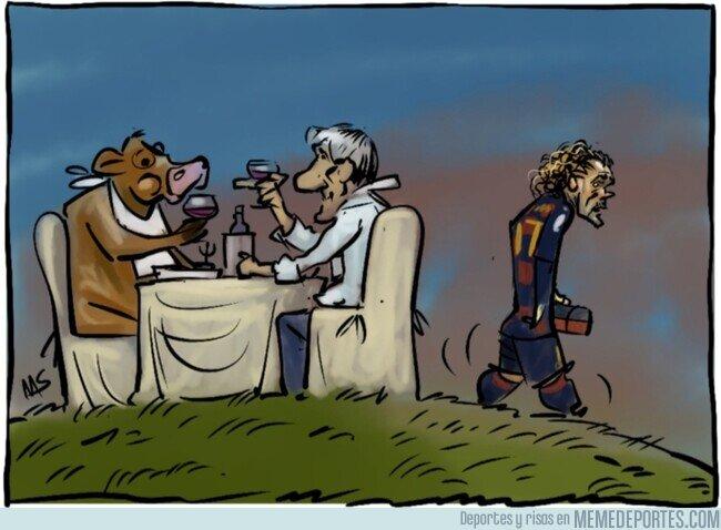 1108214 - Griezmann no come ni en la mesa de Setién, por @yesnocse