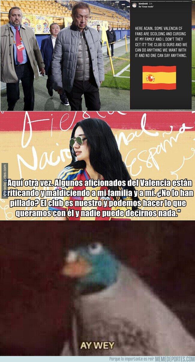1108324 - La hija de Peter Lim la lía pardísima poniendo este mensaje contra la afición del Valencia y lo borra a los minutos