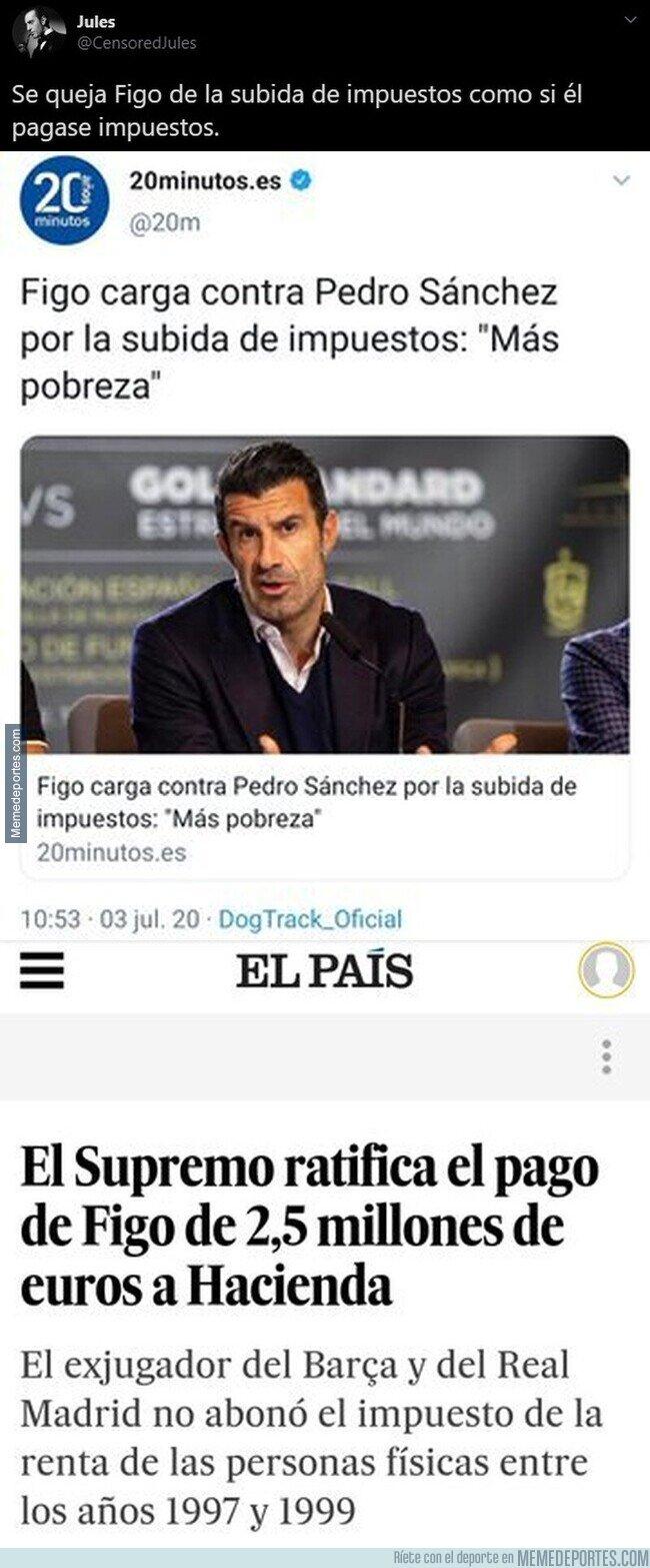 1108465 - Figo carga contra la subida de impuestos de Pedro Sánchez cuando él hacía esto en el pasado con su dinero en España