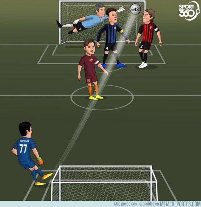 1108552 - Buffon se convierte en el jugador con más partidos en Serie A, por @abdoshcaricature