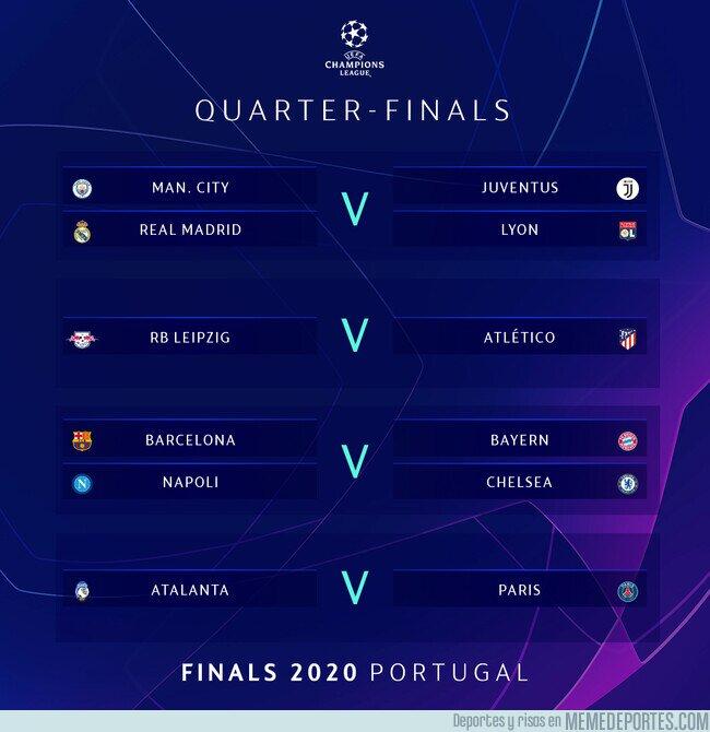 1109074 - El sorteo de Cuartos de final de la Champions League