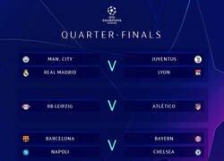 Enlace a El sorteo de Cuartos de final de la Champions League