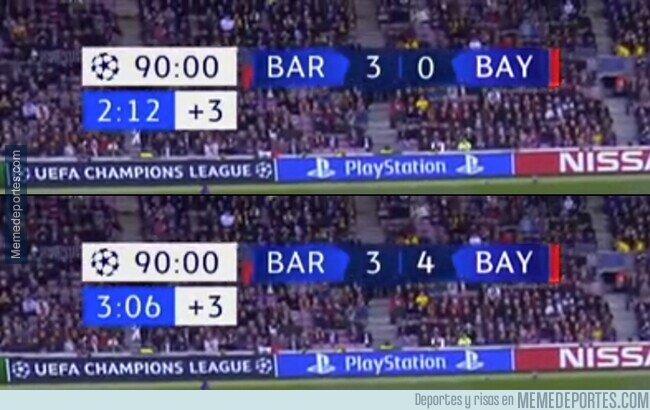 1109100 - El Barça cuando se enfrente al Bayern en cuartos.