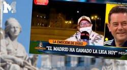 Enlace a Alfredo Duro la lía pardísima en pleno directo de 'El Chiringuito' en Cibeles con un aficionado del Madrid haciendo una gran temeridad