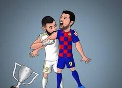 Enlace a El Madrid muerde LaLiga al Barça, por @abdoshcaricature