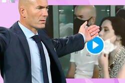 Enlace a Isabel Díaz Ayuso da un pésimo ejemplo y te explica en 3 segundos como no debes usar la mascarilla justo al lado de Zidane