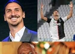 """Enlace a """"Porque tanto escándalo que Cristiano haya ganado con el Manchester, Madrid y Juventus, yo salí campeón en Holanda, Italia, España, Inglaterra y Francia, pero claro es Ronaldo el rey del marketing"""