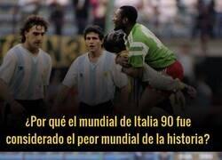 Enlace a El motivo por el que Italia 90 fue considerado el peor Mundial de la historia