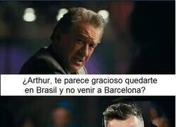 Enlace a Arthur se queda en Brasil
