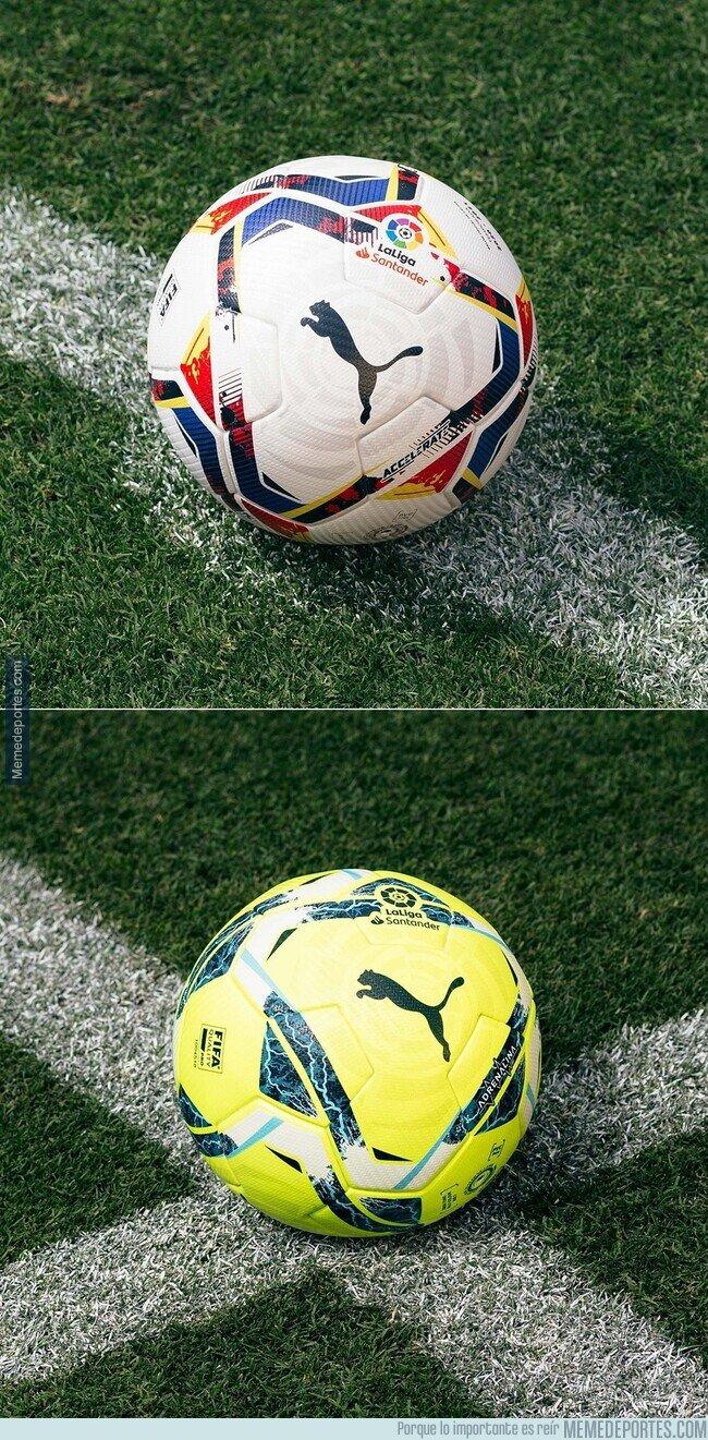 1111335 - Los nuevos balones de La Liga para la próxima temporada.