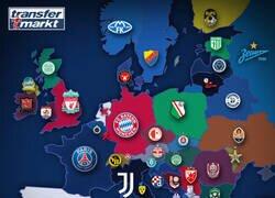 Enlace a Europa y el mapa de los campeones