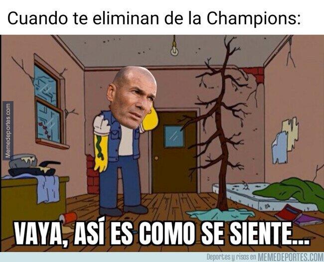 1111510 - Zidane, eliminado de la Champions por primera vez