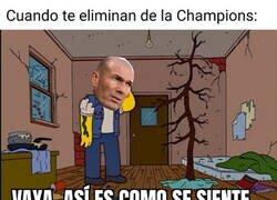 Enlace a Zidane, eliminado de la Champions por primera vez