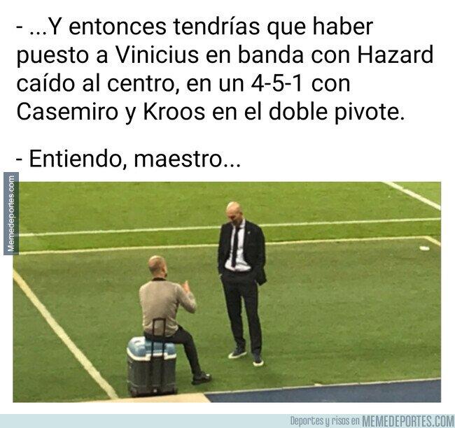 1111535 - Lo que se dijeron Pep y Zidane al finalizar el encuentro