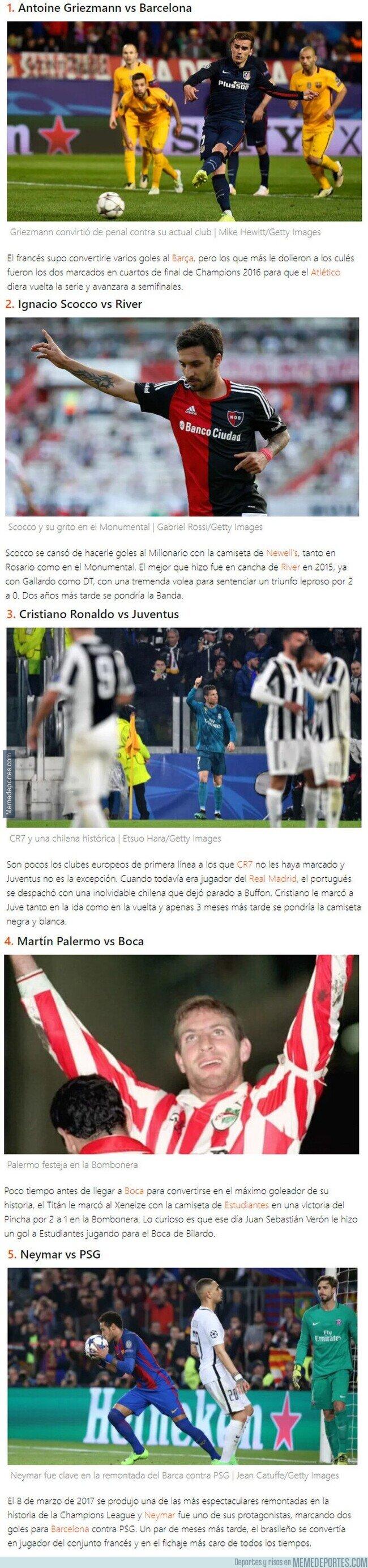 1111838 - Futbolistas que le marcaron a sus clubes antes de fichar por ellos