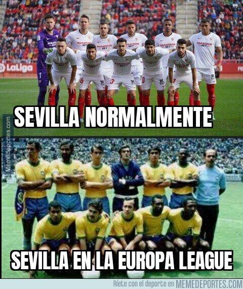 1112000 - En Europa League el Sevilla es el Brasil de Pelé
