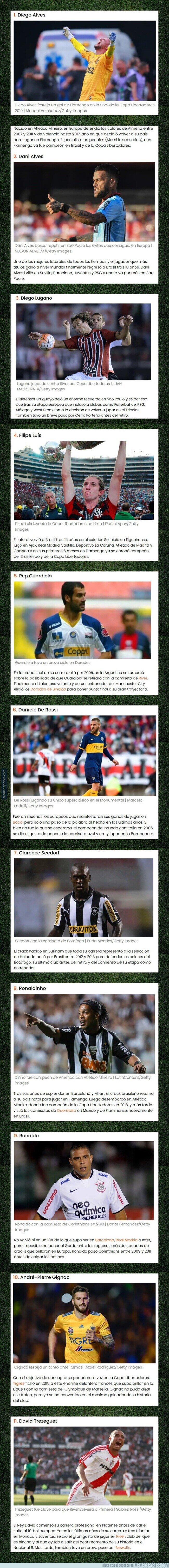1112042 - El equipo ideal de jugadores que brillaron en Europa y emigraron a Latinoamérica en los últimos años
