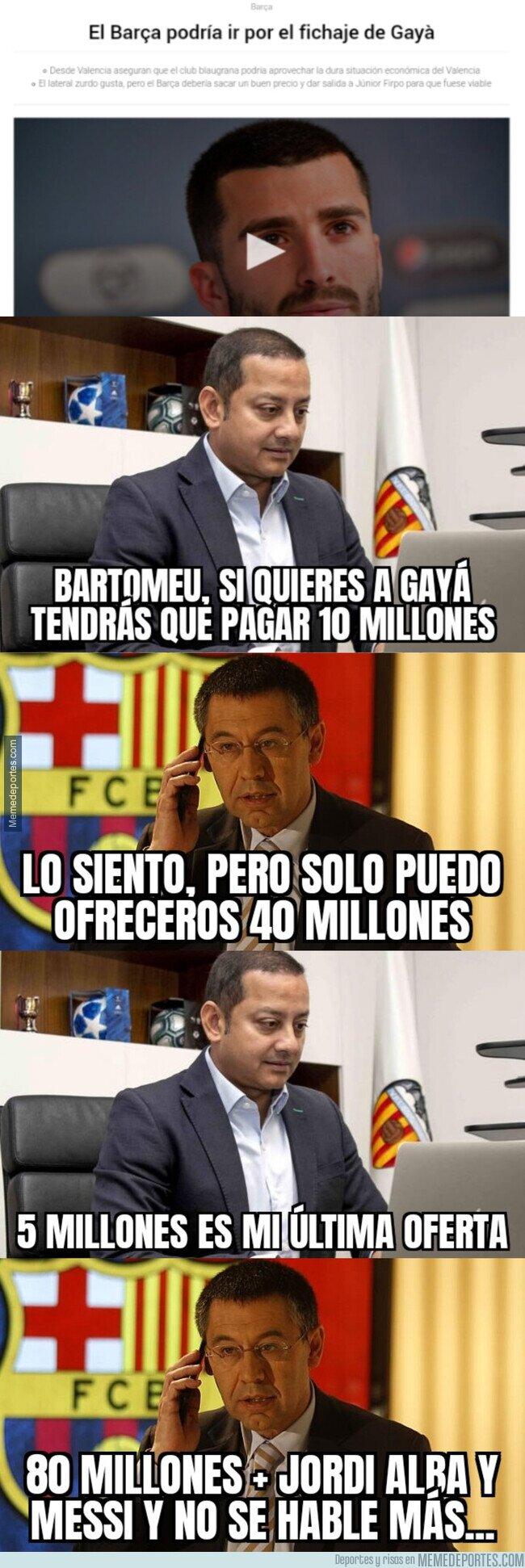 1112179 - Así negociarían Barça y Valencia el posible fichaje de Gayá