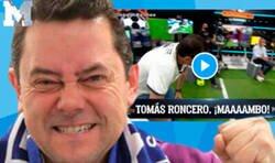 Enlace a Cachondeo absoluto por el momentazo en el que Tomás Roncero entró al plató después del 2-8 del Bayern al Barça