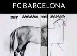 Enlace a El irregular andar del Barça