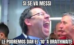 Enlace a Bartomeu ya prepara la era post Messi
