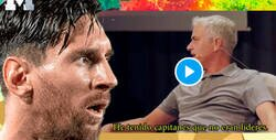 Enlace a Estos dos minutos de Mourinho explicando la diferencia de capitán y líder dejan en muy mal lugar a Messi tras el 2-8 del Bayern