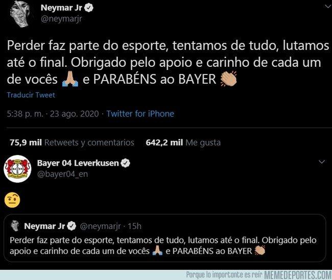 1114032 - Neymar felicita al Bayer sin N. No se lo dejan pasar
