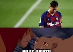 Enlace a Los culés leyendo que Messi anunció su salida