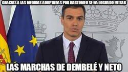 Enlace a Comparecencia de Pedro Sánchez para dirigirse a todos los barcelonistas