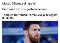 Enlace a El Barça no quiere regalar a Messi