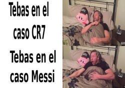 Enlace a Tebas con CR7 y Messi