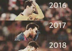 Enlace a Messi se ha quedado para su sextete, su sexto ridículo consecutivo en Champions