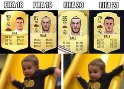 Enlace a El nivel de Bale reflejado en sus últimas cartas del FIFA