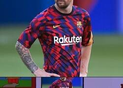 Enlace a La camiseta de calentamiento del Barça es estratégica, para provocar dolor de cabeza en los rivales