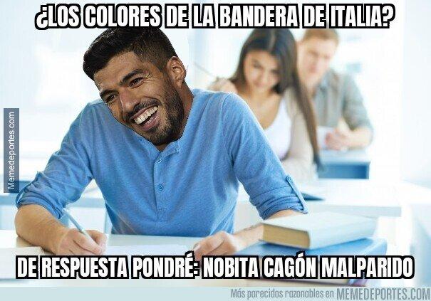 1115827 - Suárez haciendo el examen de italianidad