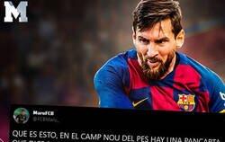 Enlace a Brutal: un aficionado del Barça encuentra en el PES 2020 una pancarta en el Camp Nou que está haciendo reír a todos