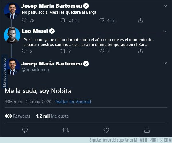 1116800 - La respuesta de Bartomeu a Messi