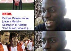 Enlace a Messi ya jugó un partido con la del Atleti