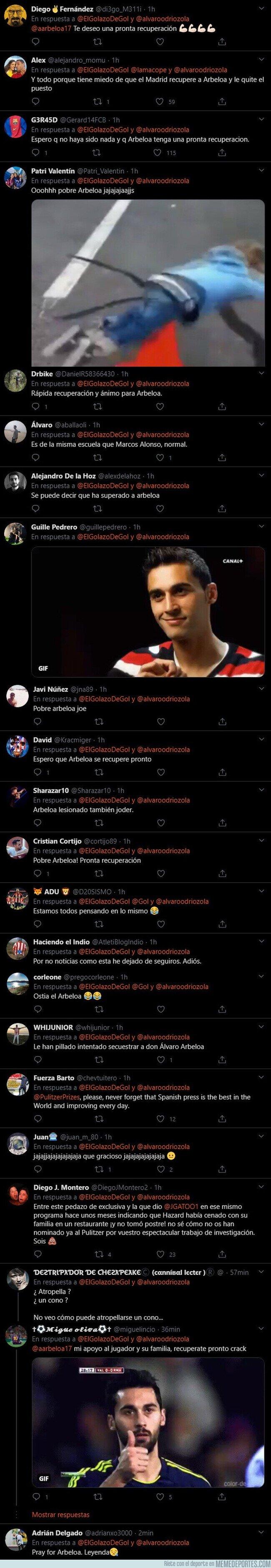 1117408 - Todo el mundo está haciendo la misma broma por el atropello con el coche de Odriozola tras salir del entrenamiento del Real Madrid