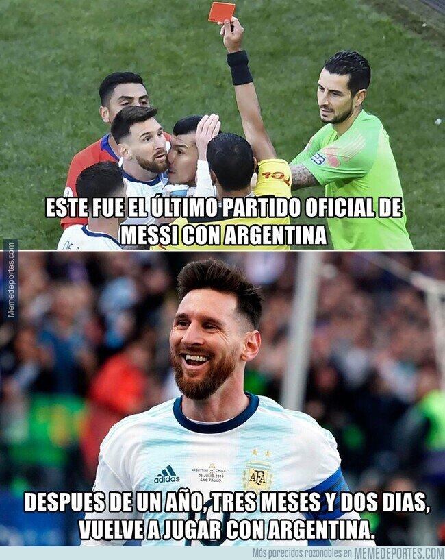 1117489 - Messi regresa con la selección Argentina despues de un año