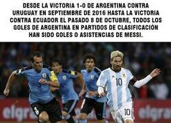 Enlace a Sin Messi, Argentina no ha logrado anotar un gol por si solos en eliminatorias desde 2016.