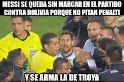 Enlace a Messi; no penalti no party