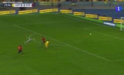 Enlace a De Gea se adelantó un poco en el gol de Ucrania