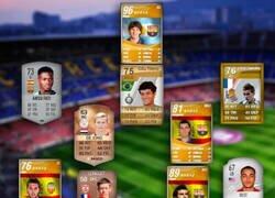 Enlace a Las primeras cartas FIFA de los jugadores de Barça y Madrid