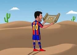 Enlace a Messi no encuentra el camino del gol ante el Madrid, por @brfootball