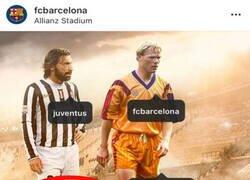 Enlace a El Barça etiqueta a Pires en una publicación donde el que aparece es Pirlo