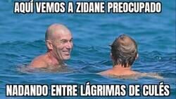 Enlace a Zidane se da un baño lagrimal
